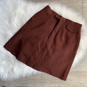 Dresses & Skirts - Vintage Brown Trendy Miniskirt
